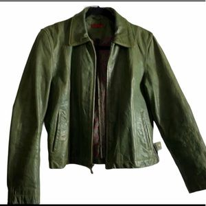 WILSONS GREEN LEATHER JACKET